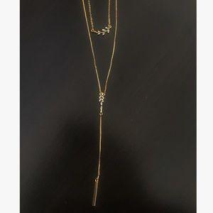 Loft Gold Double Strand Necklace